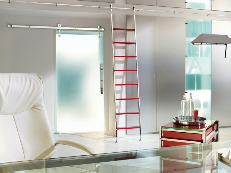 Glass sliding door without frame AKZENT by WOLFSGRUBER