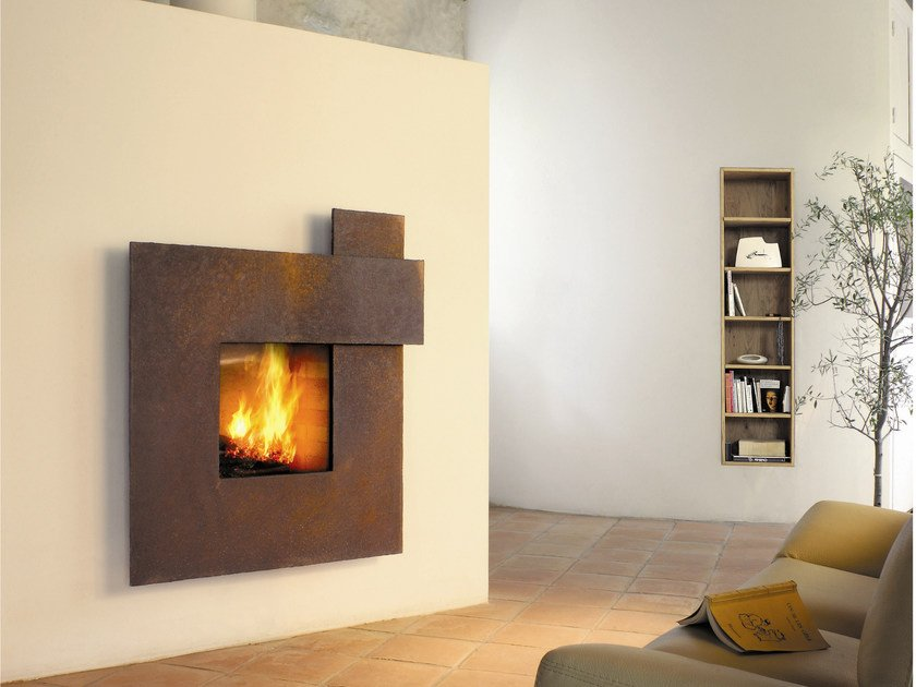 Steel Fireplace Mantel MÉtafocus 1 By Focus Creation