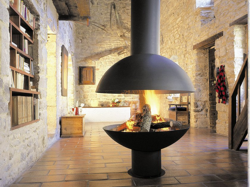 Focus Kamin open central hanging fireplace gyrofocus gyrofocus collection by