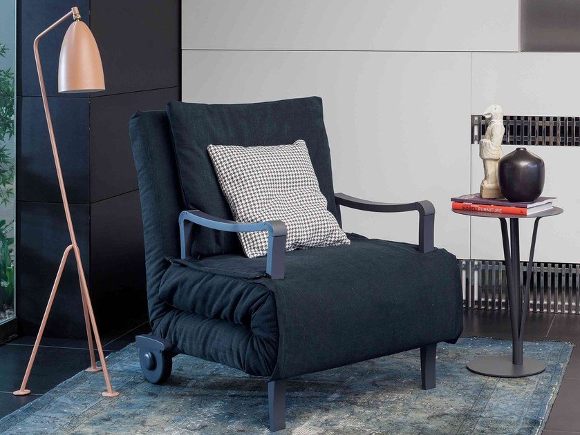 Upholstered armchair bed NUOVO ARTURO by Bonaldo