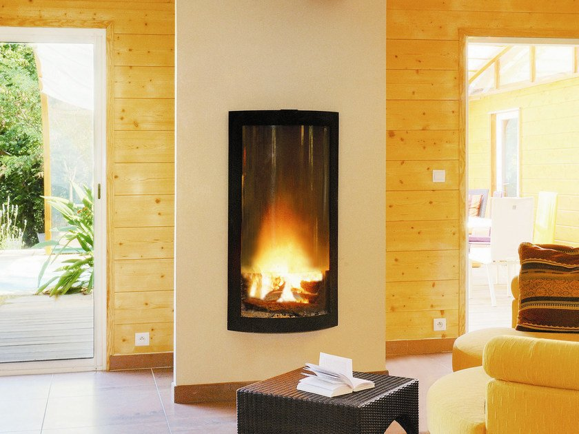 Built-in wall-mounted fireplace PICTOFOCUS 1200 by Focus creation