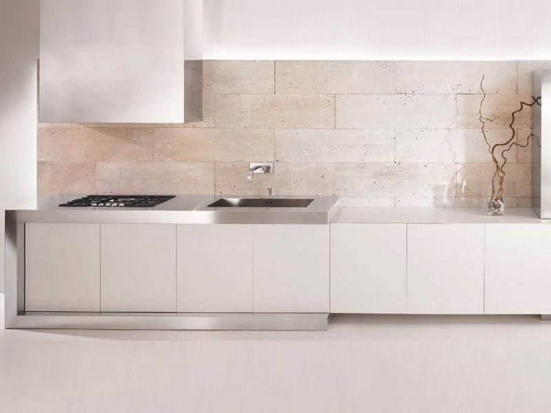 Linear kitchen without handles D90 | Corian® kitchen by TM Italia Cucine