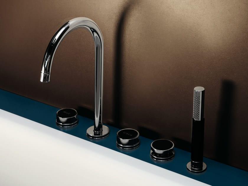 5 hole bathtub set with hand shower SAVOIR | Bathtub set by ZUCCHETTI