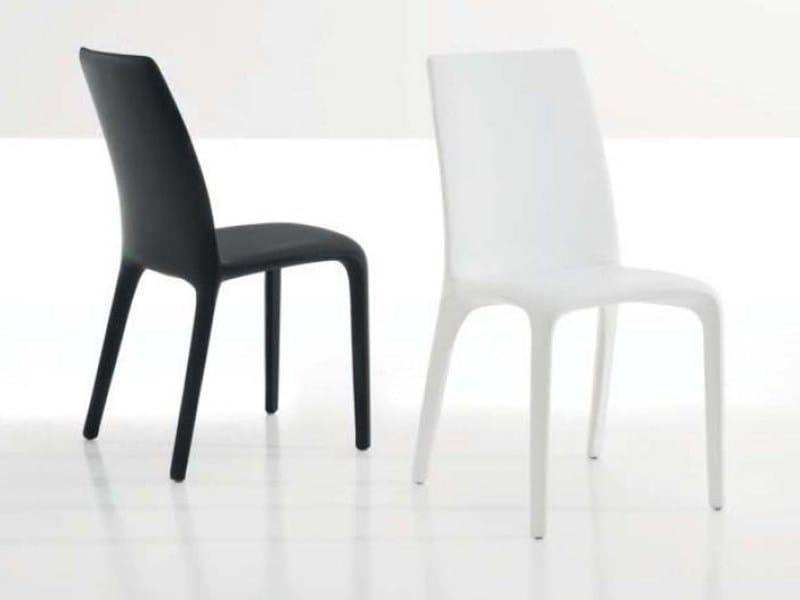 Upholstered leather chair ALANDA by Bonaldo