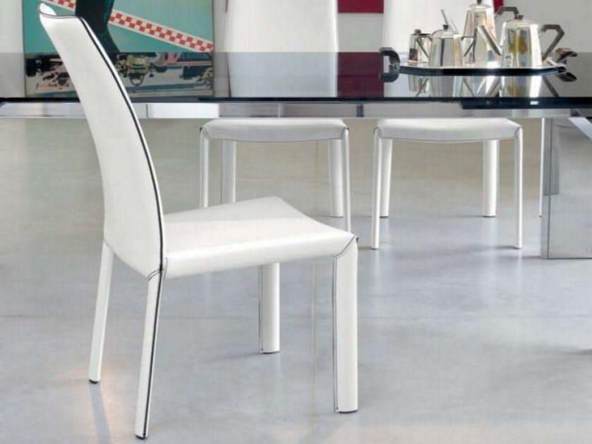 Upholstered high-back chair ANGELINA by Bonaldo