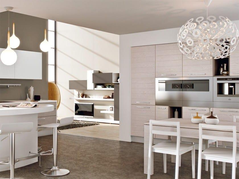 Cucina componibile laccata in legno ADELE PROJECT | Cucina - Cucine Lube