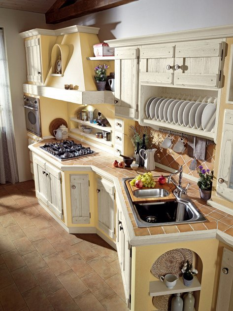Kitchen with handles ANITA By Cucine Lube
