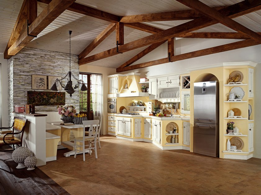 Classic style kitchen with handles anita by cucine lube - Cucine toscane in muratura ...