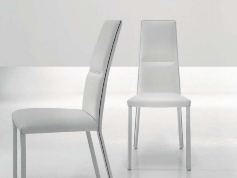 Upholstered high-back chair LYU by Bonaldo