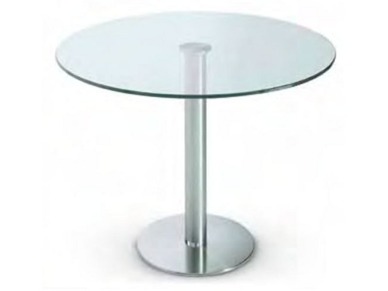 Round crystal table BIG BASIC by Gallotti&Radice