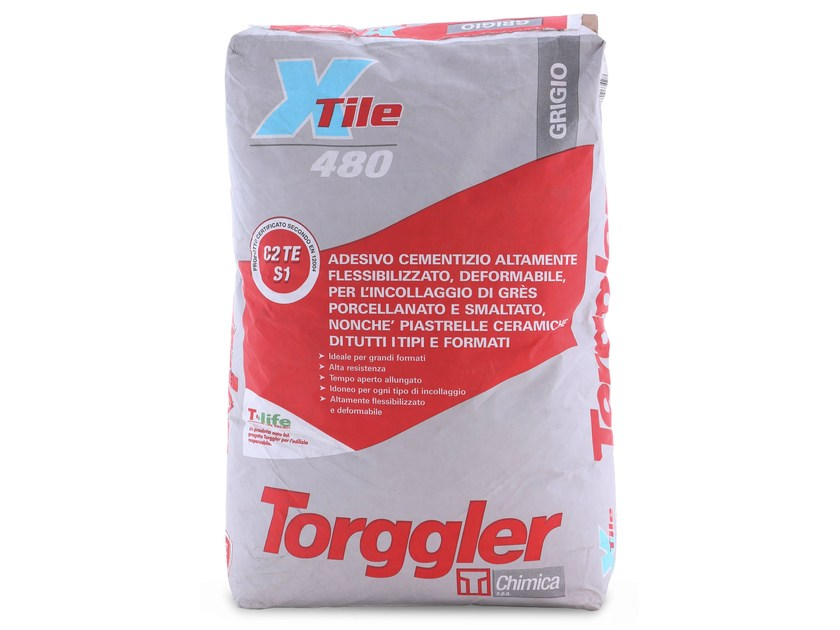 Cement-based glue X-TILE 480 by Torggler Chimica