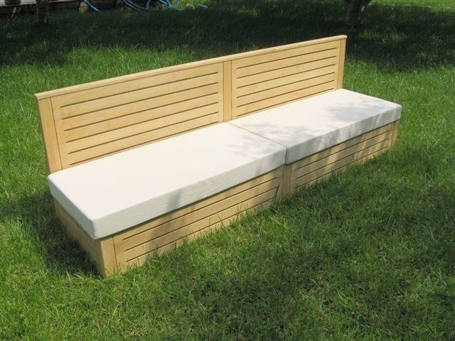 Panca da giardino in rovere essence sprech for Panche in legno da giardino