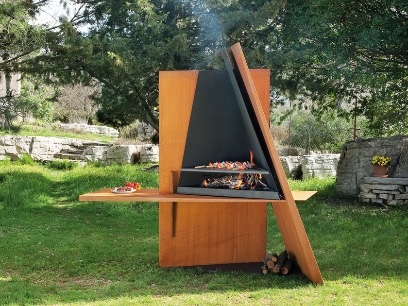 Activated charcoal stainless steel barbecue MIKADOFOCUS by Focus creation
