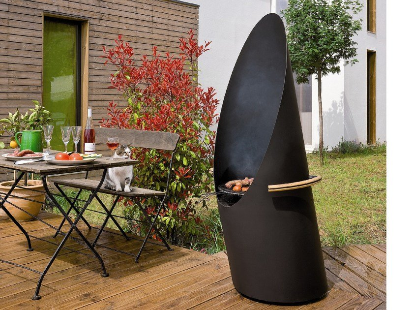 Activated charcoal steel barbecue DIAGOFOCUS by Focus creation