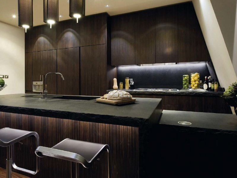 Kitchen with island without handles T45 | Custom kitchen by TM Italia Cucine