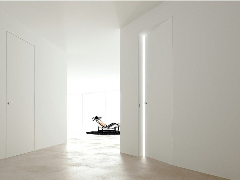 Flush-fitting door LINEAR ZERO by Ghizzi & Benatti
