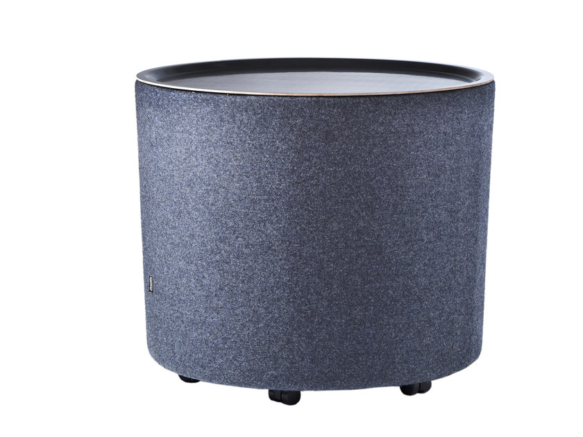 Round bistro side table with casters EYE TABLE by Johanson Design