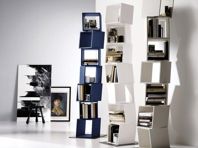 Libreria componibile girevole rubik by emmebi design carlo cumini