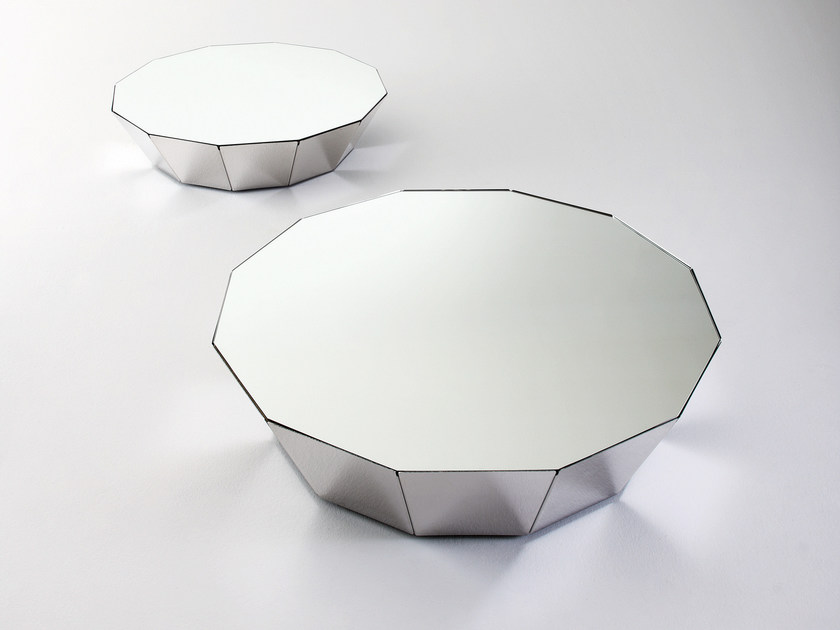Low crystal coffee table BASALTO 12 by Gallotti&Radice