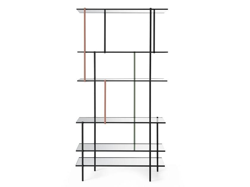 Modular aluminium bookcase DRIZZLE by Gallotti&Radice