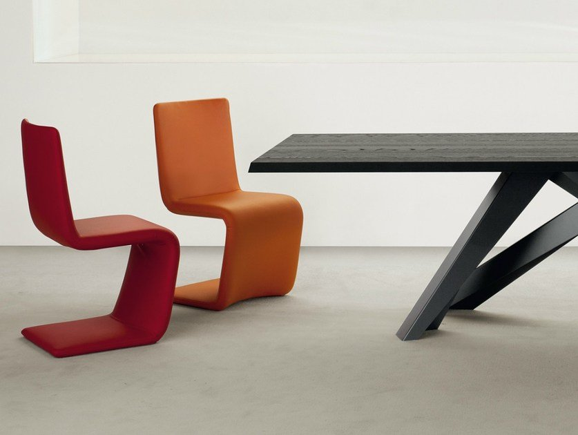 Cantilever upholstered chair VENERE by Bonaldo