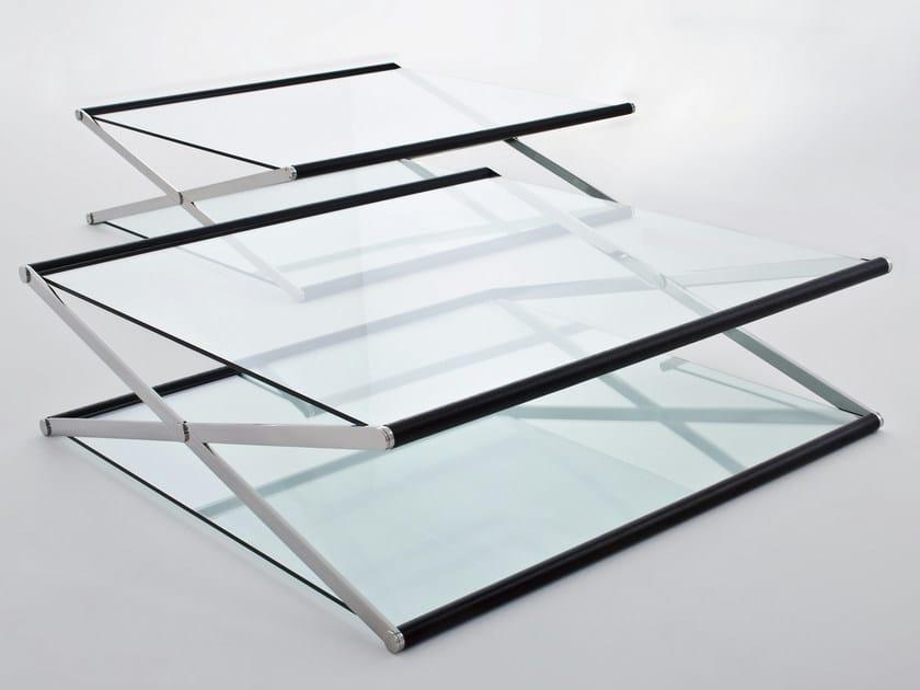 Low crystal coffee table NOX by Gallotti&Radice