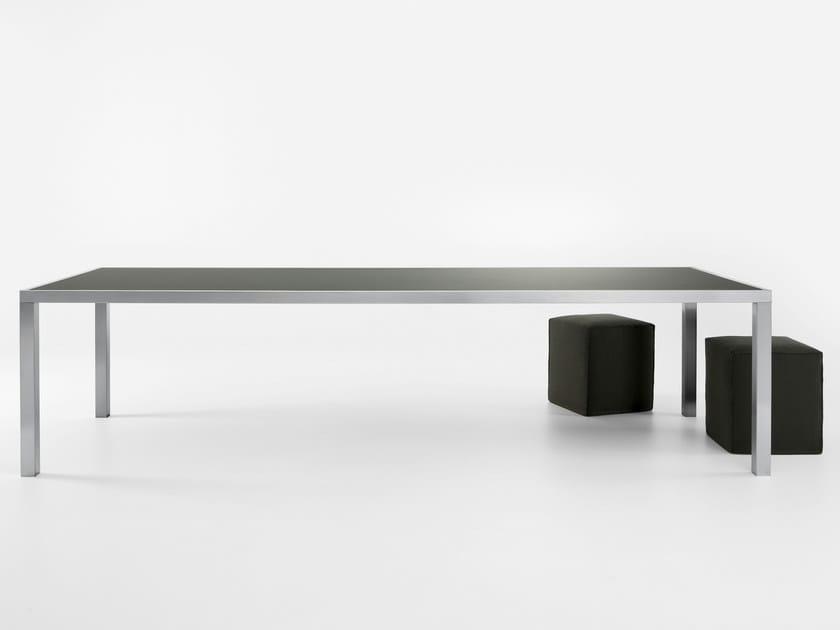 Rectangular stainless steel table SMART XL by Gallotti&Radice