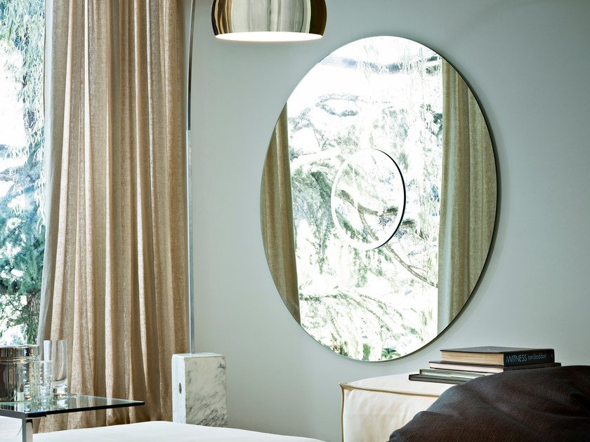 Wall-mounted mirror SOLE by Gallotti&Radice