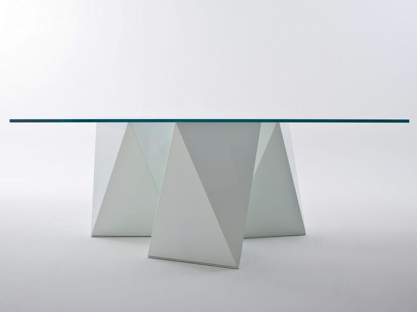 Rectangular crystal table YAN by Gallotti&Radice