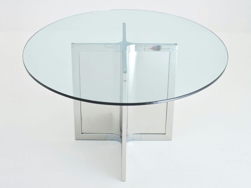 Round crystal table RAJ 4 by Gallotti&Radice