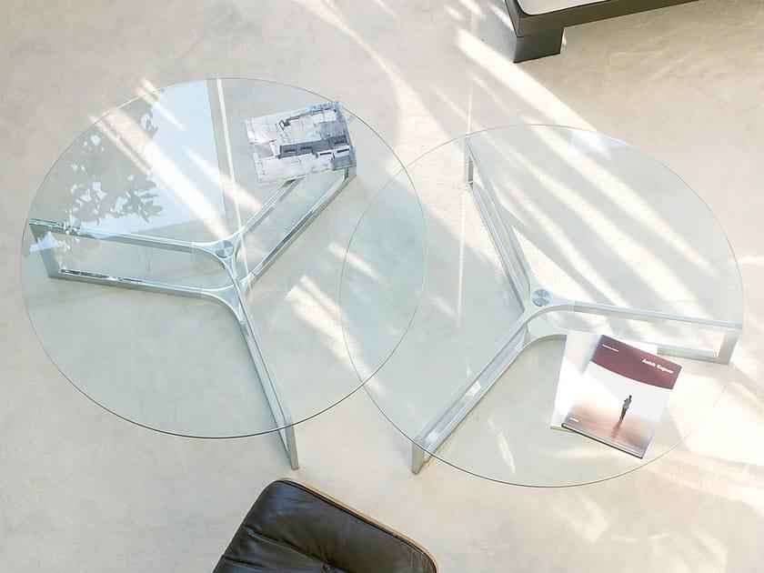 Low round coffee table RAJ 1 by Gallotti&Radice