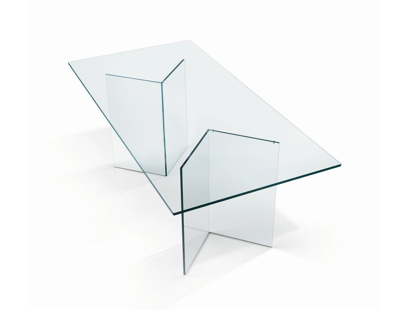 Glass table BACCO by Tonelli Design
