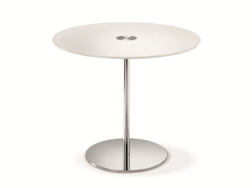 Round tempered glass table FARNIENTE ALTO | Round table by Tonelli Design