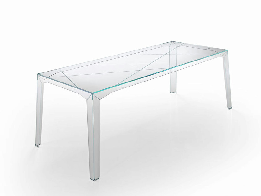 Rectangular glass table FRAGMENTS by Tonelli Design