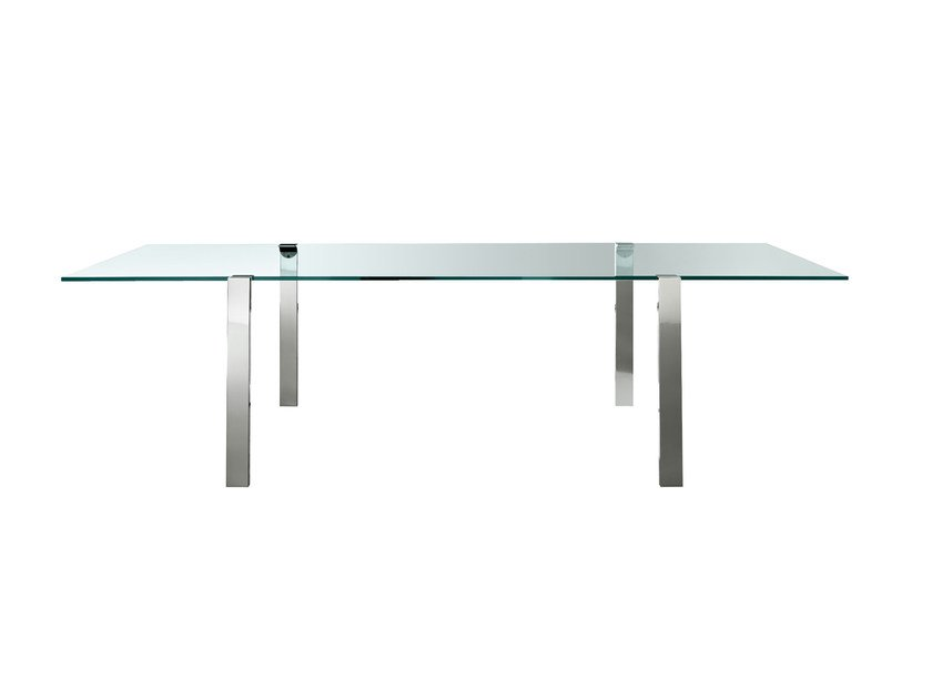 Rectangular glass table LIVING STAND by Tonelli Design
