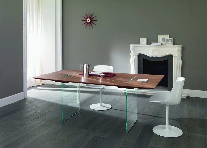 Design rectangular wooden table TAVOLANTE by Tonelli Design