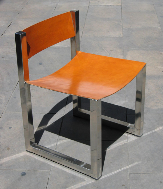 Stainless steel chair DEL ESCRITORIO by ICI ET LÀ