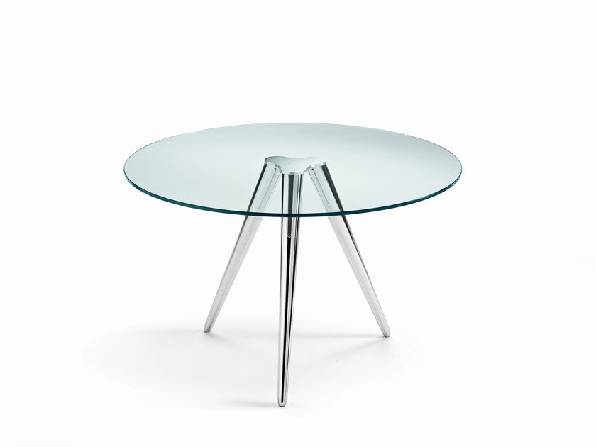 Round glass table UNITY by Tonelli Design