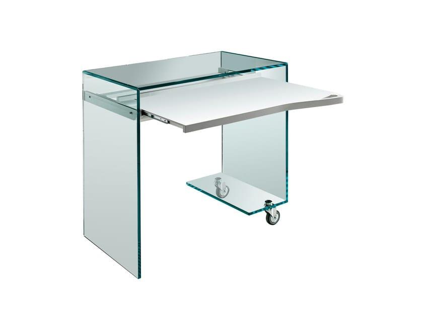 PC glass writing desk WORK BOX by Tonelli Design