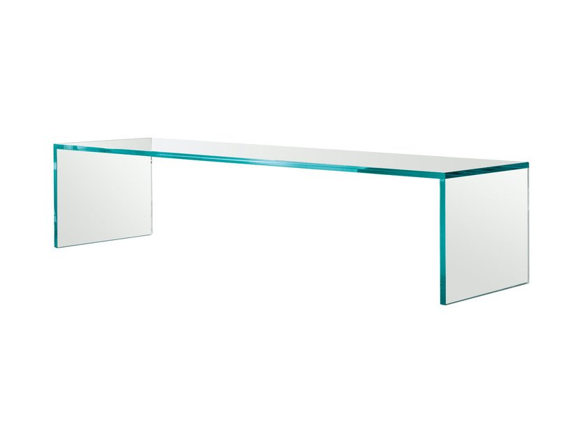 Low glass coffee table CAPO HORN by Tonelli Design