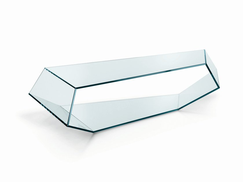 Glass coffee table DEKON 2 by Tonelli Design