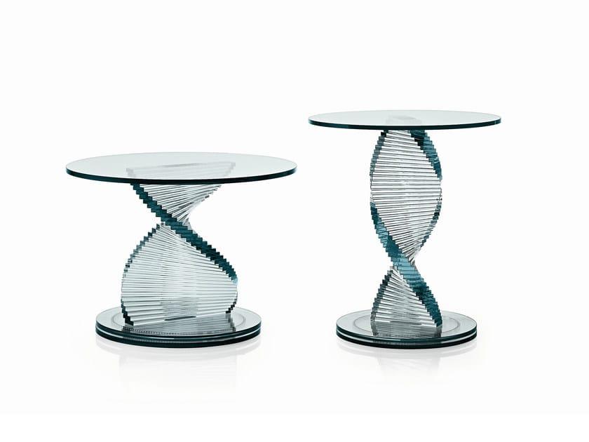 Glass coffee table ELICA by Tonelli Design