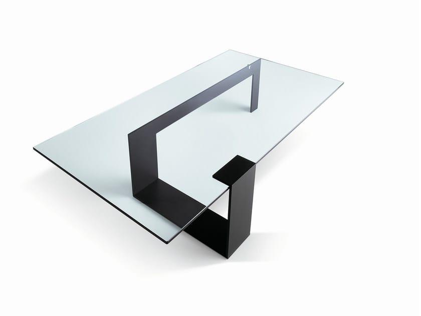 Glass coffee table PLINSKY by Tonelli Design