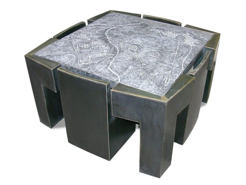 """Square metal table CONNECT """"PAISAJE DE LA MEMORIA"""" by ICI ET LÀ"""
