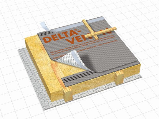 Breathable protective fabric for roof space DELTA® - VENT N by DÖRKEN ITALIA