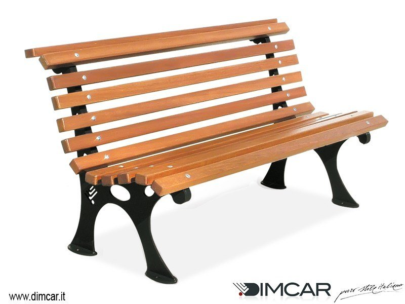 Classic style metal Bench with back Panchina Mary by DIMCAR
