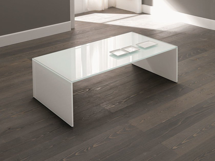 Glass coffee table QUBIK by Tonelli Design