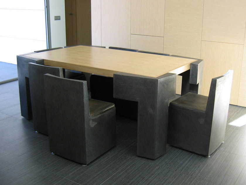 Steel table BIG CONNECT 6 by ICI ET LÀ