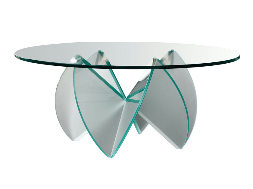 Glass coffee table ROSA DEL DESERTO by Tonelli Design