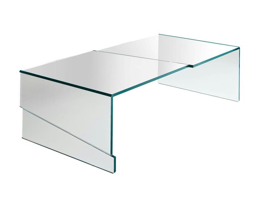 Glass coffee table STRAPPO by Tonelli Design